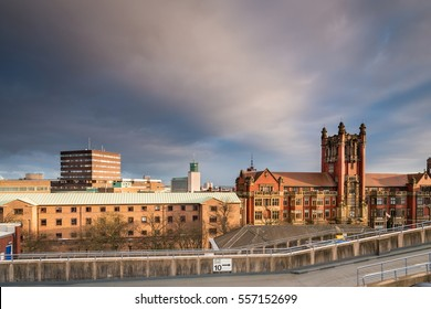 Newcastle University Skyline / Newcastle city centre skyline, with the rooftops of Newcastle University and the Civic Centre beyond