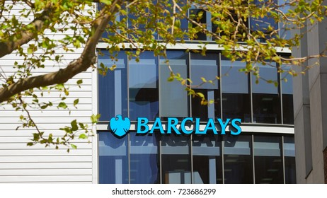 NEWCASTLE UPON TYNE, ENGLAND, UK - MAY 17, 2017: Barclays Bank office buildings on Newcastle Quayside.