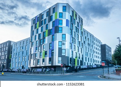 Newcastle Upon Tyne,England on the 31st Jul 2018: Tyne Student Living is low cost funded accomodation for students attending the University of Newcastle.
