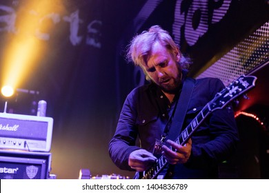 Newcastle/UK - 12th May 2019: Towers of London band Dirk Tourette on stage concert at Newcastle Riverside