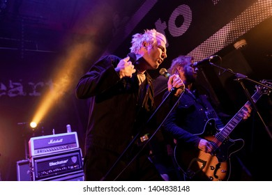 Newcastle/UK - 12th May 2019: Towers of London band Donny Tourette on stage concert at Newcastle Riverside