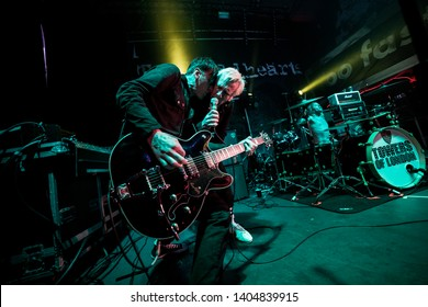 Newcastle/UK - 12th May 2019: Towers of London band Donny Tourette and The Rev on stage concert at Newcastle Riverside