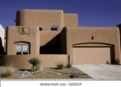 A newer adobe home in New Mexico.