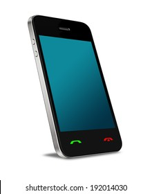 The newest technology mobile phone with isolated background