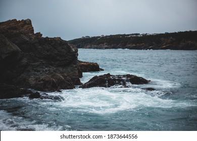 Newfoundland east coast rocky waves