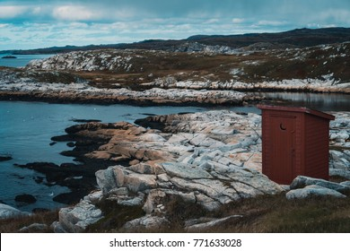 Newfoundland Outhouse Near Coast