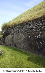 Newgrange Megalithic Passage Tomb 3200 BC - a World Heritage Site by UNESCO.  County Meath, Ireland