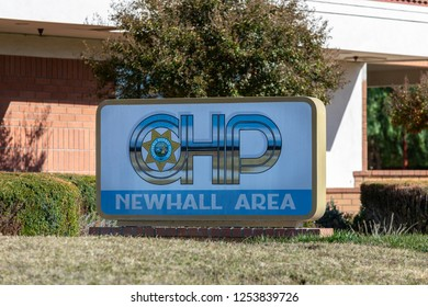 NEWHALL, CA - DECEMBER 9, 2018: Exterior view of the California Highway Patrol Newhall area station.