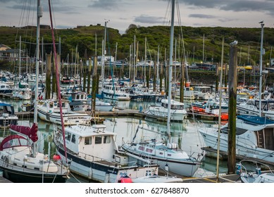 Newhaven -England. 15 April, 2017. Boats in Newhaven harbour, Sussex , UK