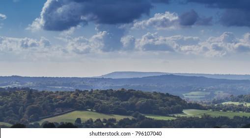 Newlands Corner view over the Surrey Hills