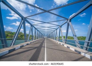 Newly built bridge at Polmoddai, Sri Lanka
