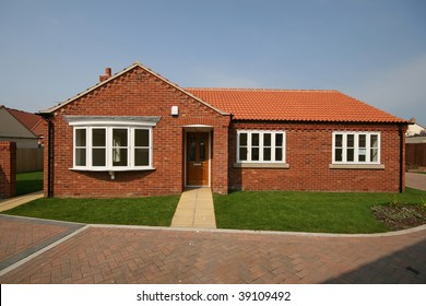 Newly built detached bungalow in UK