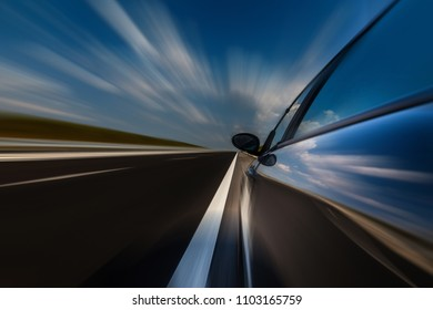 Newly built highway in Bulgaria