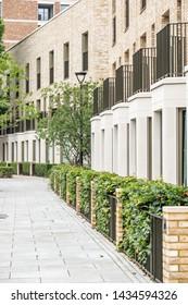 Newly built modern urban terraced houses