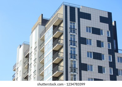 newly built multi-storey residential building