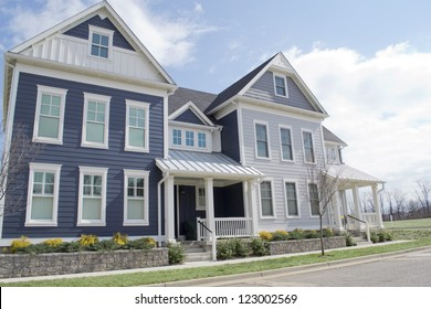 Newly Built Suburban Cape Cod American Townhomes