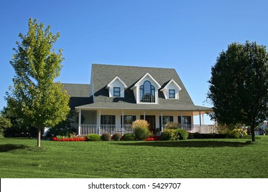 "Newly constructed ""farmhouse"" in suburbs"