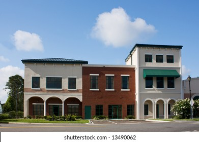 newly constructed, mixed architectural styled professional offices