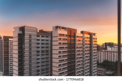 Newly constructed residential HDB building