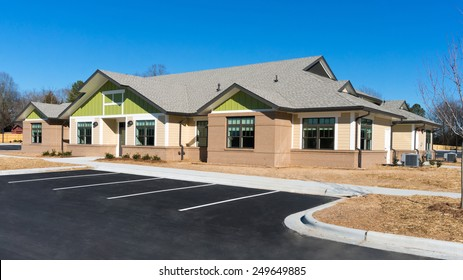 Newly constructed small suburban building