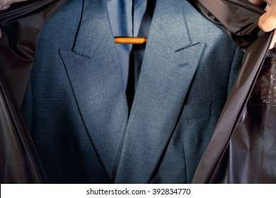 newly dry cleaned business Suit