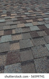 A newly installed composition asphalt  shingle roof