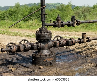 newly installed wellhead in the oil and gas industry