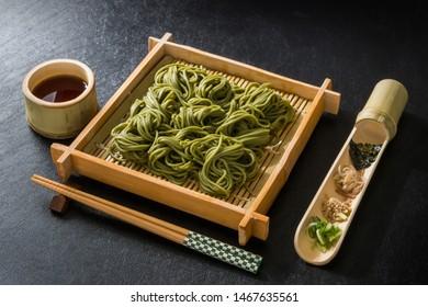 Newly made raw soba Japanese foods