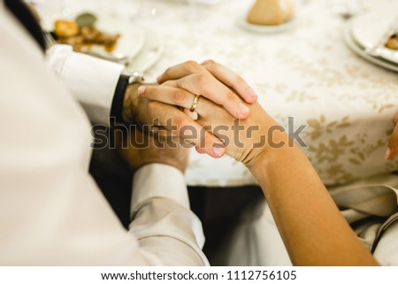 Newly Married Couple After Their Wedding Stock Photo (Edit