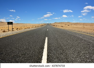 A newly tarred road to Luderitz in the Namib desert, Namibia, Africa