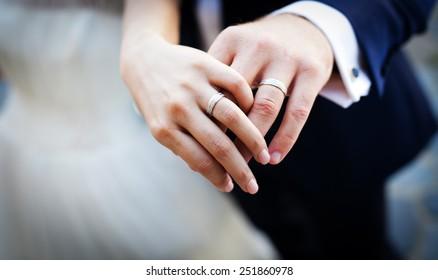 Wedding Rings Hands Images Stock Photos Vectors Shutterstock