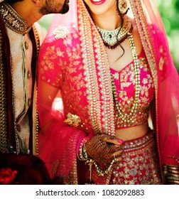 Newly wed indian Pakistani Couple Standing together