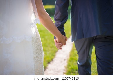 newlyweds go hand in hand, look back