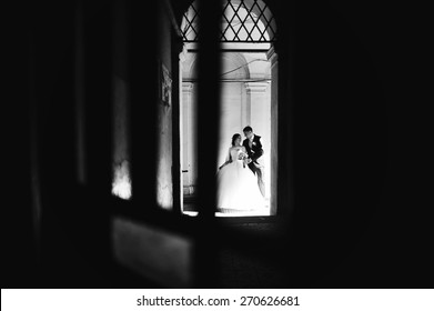 Newlyweds at the shadow alley