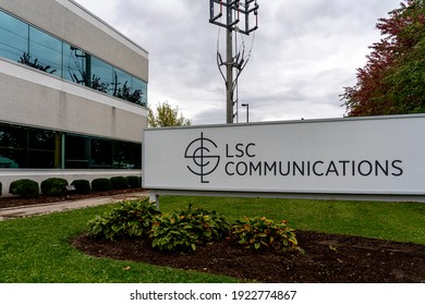 Newmarket,  On, Canada - October 3, 2020: LSC Communications Canada office is shown in Newmarket,  On, Canada. LSC specializes in print and print-related services and office products