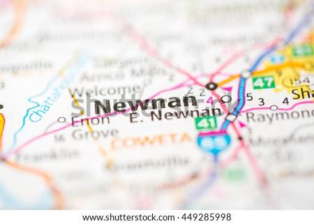 Newnan Georgia Map.Newnan Georgia Usa Stock Photo Edit Now 449285998 Shutterstock