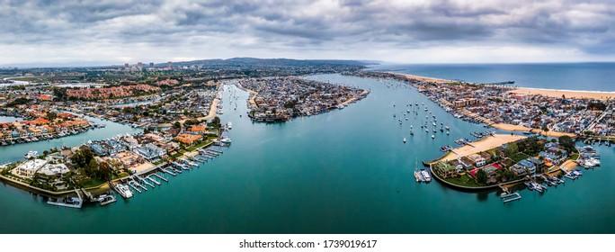 Newport Bay Beach Southern California