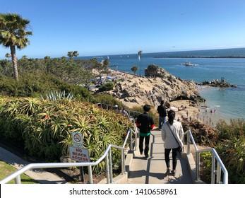 8f152fdb2 Newport Beach, CA: 5/27/2019: Beach goers visiting Corona Del