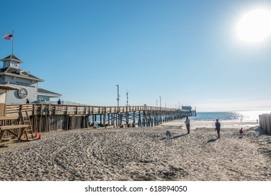 Newport Beach, California, USA, February 28, 2017: Newport Beach Pier