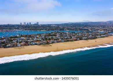 Newport Beach coastline overlooking Balboa Peninsula