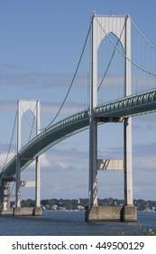 Newport Bridge, connecting the cities of Newport and Jamestown in Rhode Island