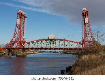 The Newport Bridge over the River Tees at Middlesbrough, United Kingdom