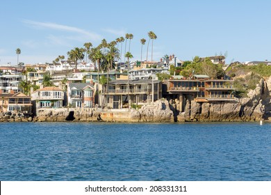 Newport harbour in California, Color houses and beautiful nature