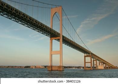 The Newport Pell Bridge in Newport, Rhode Island