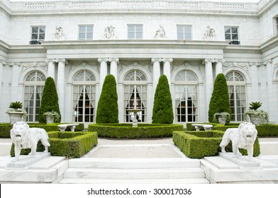 NEWPORT - RHODE ISLAND, USA - JULY 18, 2015: Rosecliff is one of the Gilded Age mansions built by architect Stanford White between 1898-1902