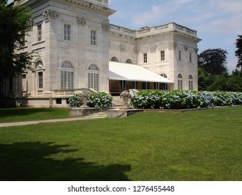 Newport, Rhode Island / USA = June 2010: Newport Mansion, The Marble House, in Newport
