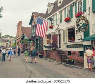 NEWPORT, RI - JULY 10, 2008: Tourists in city streets. Newport typically brings in $700 million in tourism dollars every year.