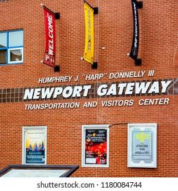 Newport, RI/USA - Oct. 23, 2014: Newport Gateway Transportation and Visitors Center, Newport, RI.