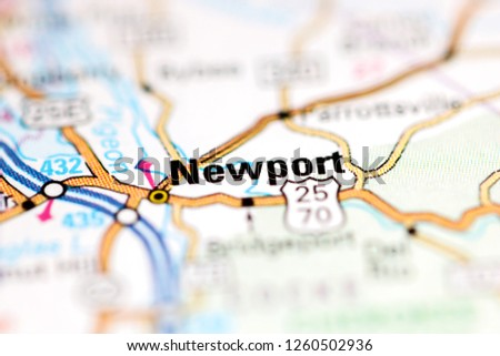 Newport Tennessee Usa On Geography Map Stock Photo Edit Now