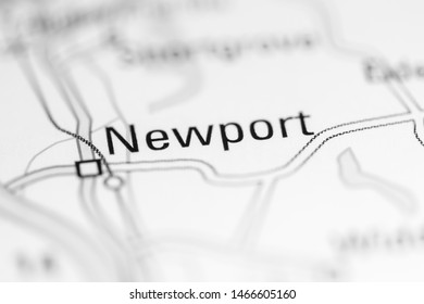Newport. United Kingdom on a geography map